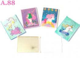 Kaca Unicorn 3D 6.5cm x 9cm /6pcs (A-9400)